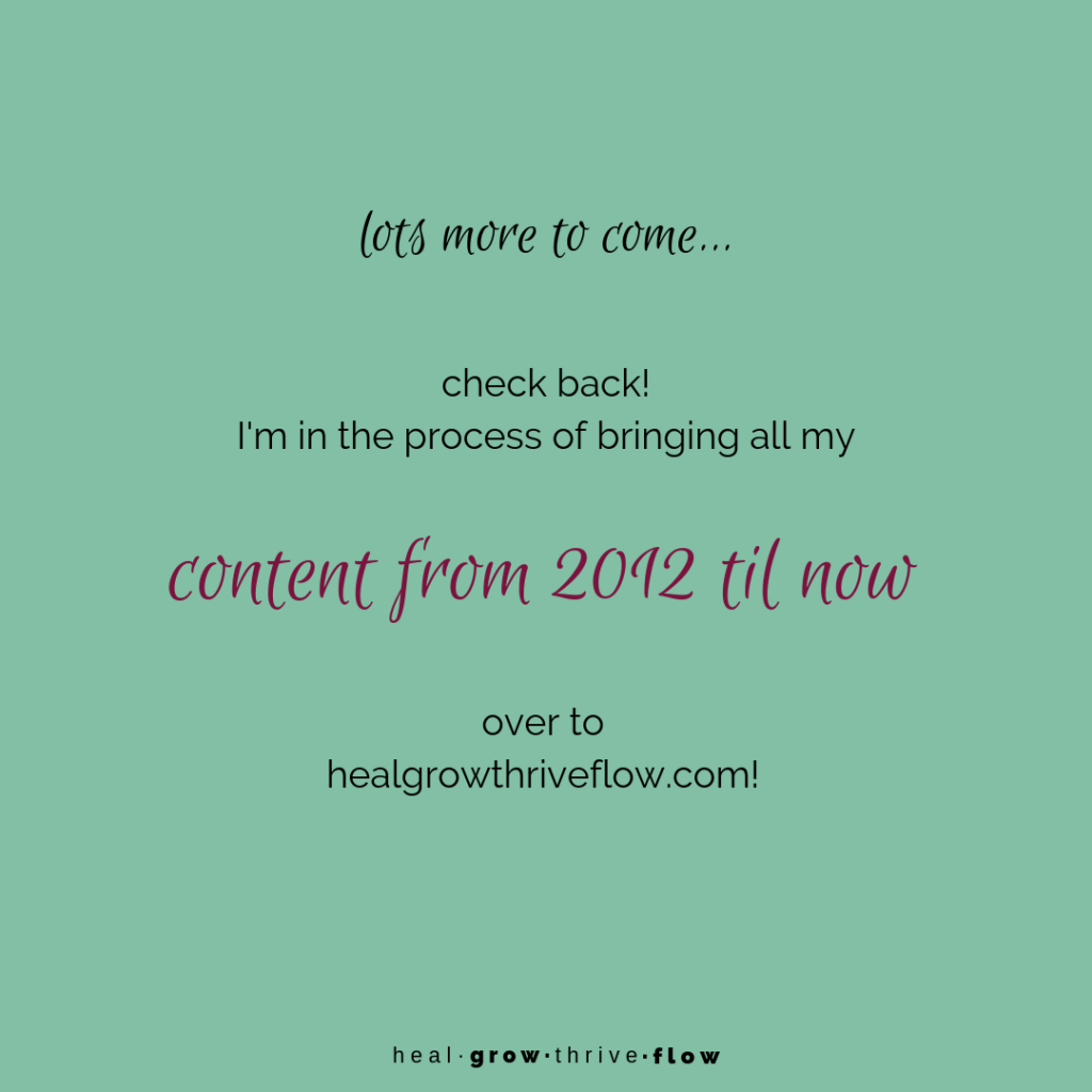 Blog Post: lots more to come healgrowthriveflow.com