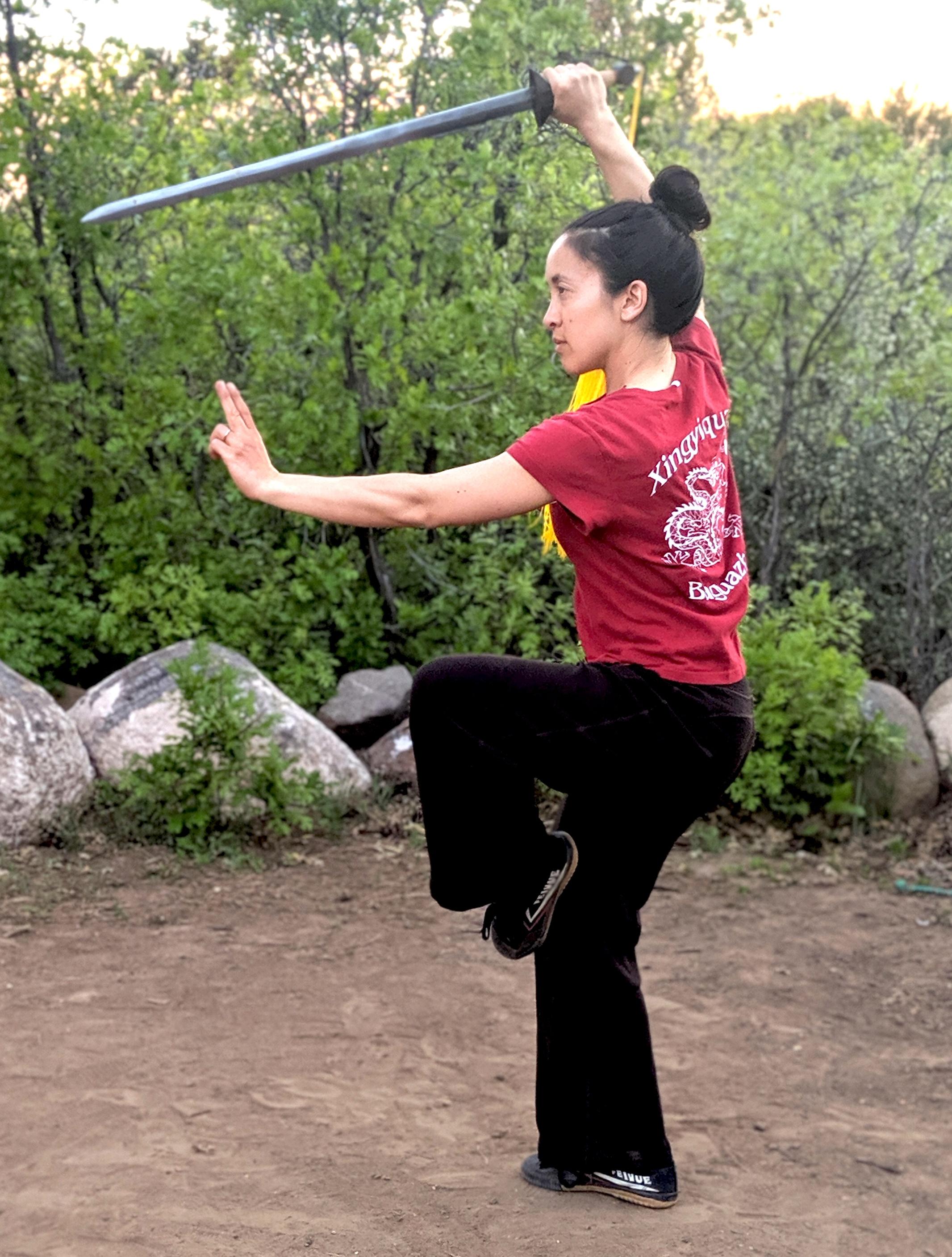 Leilani Navar Straight Sword Gold Mountain Arts