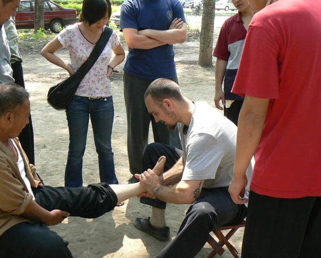 Sylas Navar Providing Tuina Thousand Lakes Health Center