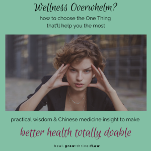 Wellness Overwhelm how to choose the One Thing that will make the biggest difference by Leilani Navar at healgrowthriveflow.com